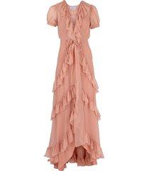 ruffle tiered long dress