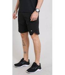 bermuda masculina esportiva ace com elastano e bolsos preta