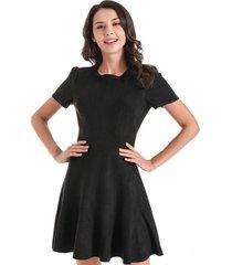 vestido gode tipo gamuza negro nicopoly