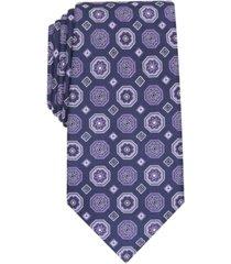 tasso elba men's classic medallion silk tie, created for macy's