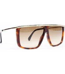 givenchy brown tortoiseshell square sunglasses brown sz: