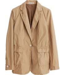 billie blazer in medium khaki