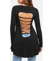 cut out high low swing t-shirt
