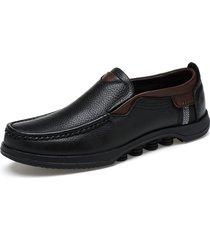 uomo casual scarpe slip-on in pelle bovina morbida a taglia forte