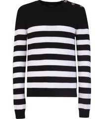 balmain nautical striped sweater