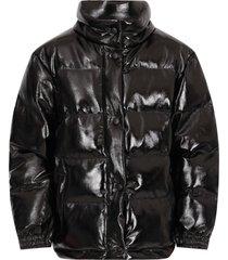 alberta ferretti black jacket with fucshia writing for girl