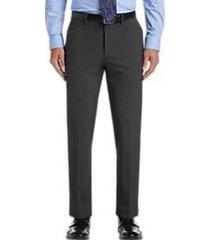 haggar j.m. haggar premium charcoal heather 4-way stretch slim fit dress pants