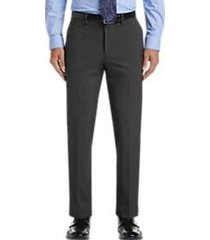 haggar jmh premium charcoal heather 4-way stretch slim fit dress pants
