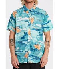 camisa m/c sundays floral ss turquesa hombre billabong