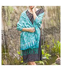 silk shawl, 'kawung biru' (indonesia)
