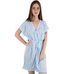 robe de malha linha noite azul