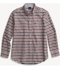 tommy hilfiger men's adaptive regular fit stripe shirt snow white - xl