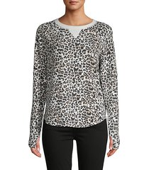 yummy leopard pullover