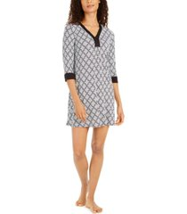 ellen tracy women's printed tunic sleepshirt nightgown