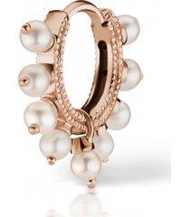 6.5mm pearl coronet earring - rose gold