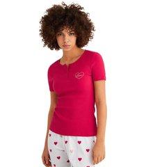 pijama capri de algodón y estampado de corazones multicolor women secret 485791760xl