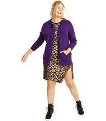 charter club plus size cashmere zip-up hoodie, created for macy's