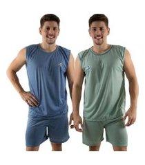 kit 2 pijamas regata 072 linha noite
