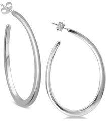 argento vivo teardrop hoop earrings in sterling silver