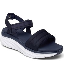 womens relaxed fit: d'lux walker shoes summer shoes flat sandals blå skechers