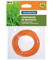 fio de nylon para aparador de grama 1,8mm com 20m laranja