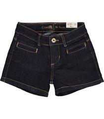 shorts feminino c/bolso embutido crawling jeans