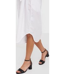 selected femme slfmerle new leather high heel sand low heel