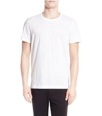 men's vince slub slim fit crewneck t-shirt, size medium - white