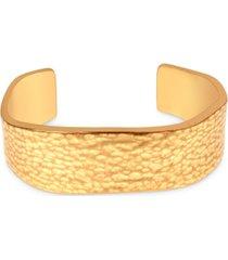 rachel rachel roy gold-tone hammered wavy cuff bracelet