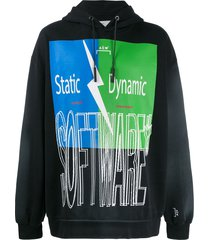 a-cold-wall* statement print hoodie - black