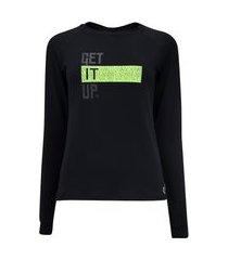 camiseta vestem manga longa atlas neon - feminina