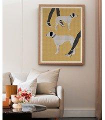 dalmatyńczki - plakat 50x70 cm fine art