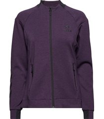 hmlclio zip jacket sweat-shirt tröja lila hummel