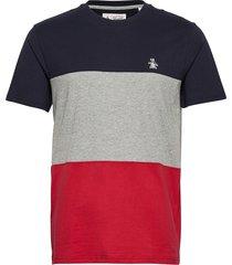 colour block t-shirt t-shirts short-sleeved multi/mönstrad original penguin