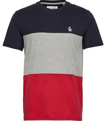 colour block t-shirt t-shirts short-sleeved multi/mönstrad original penguin