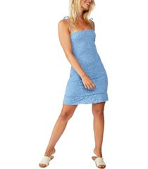 cotton on shelby shirred strappy mini dress