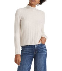 women's madewell evercrest turtleneck sweater, size large - beige