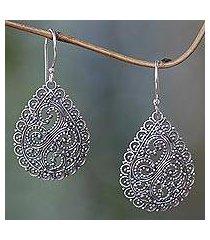 sterling silver dangle earrings, 'divine femininity' (indonesia)