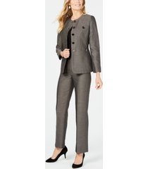 le suit button detail pantsuit