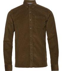 6200618, shirt - sdjuan ls corduroy skjorta casual grön solid
