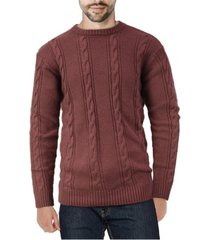 x-ray men's cable knit sweater