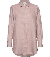 lune ls shirt overhemd met lange mouwen roze second female