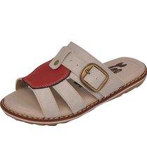sandália infantil raniel calçados papete chinelo fivela gelo/vermelho