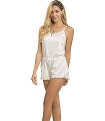 pijama corta enterizo adriana arango 7786- blanco
