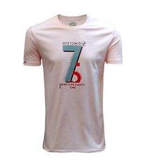 camiseta 775 califórnia - rosa claro