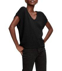 michael stars draya v-neck t-shirt, size small in black at nordstrom