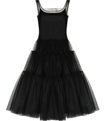 molly goddard tiered tulle dress - black