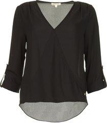 overslag blouse guase  zwart