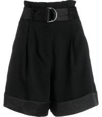 karl lagerfeld belted waist short - black