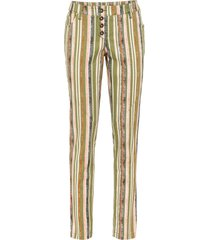 pantaloni boyfriend a righe (verde) - rainbow